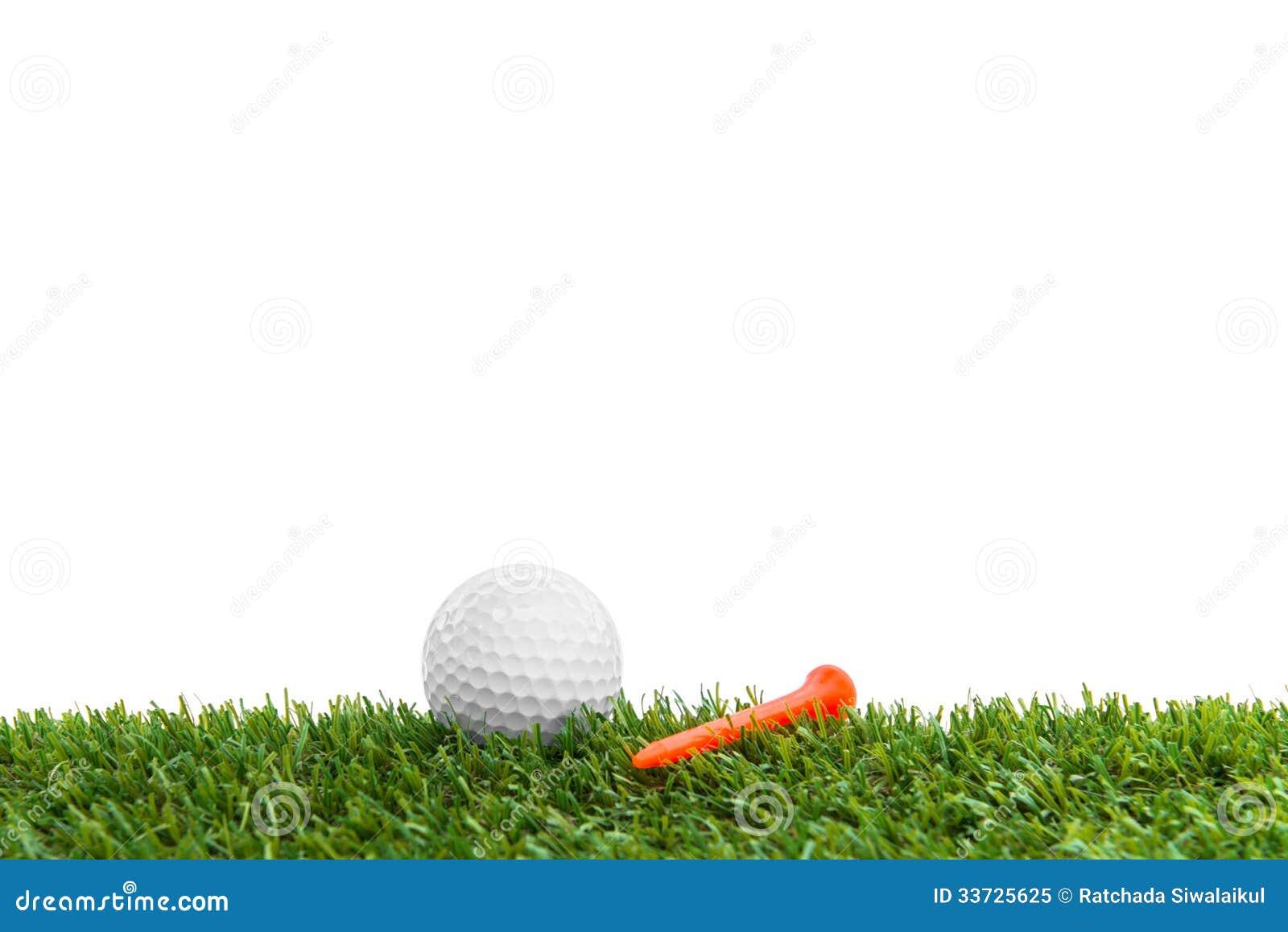 Golfball auf Kurs