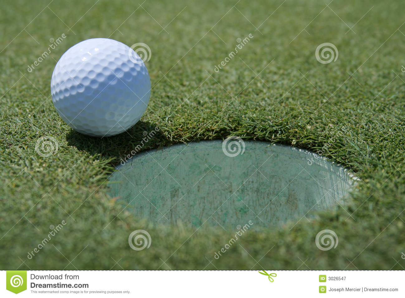 Golfball am Cup