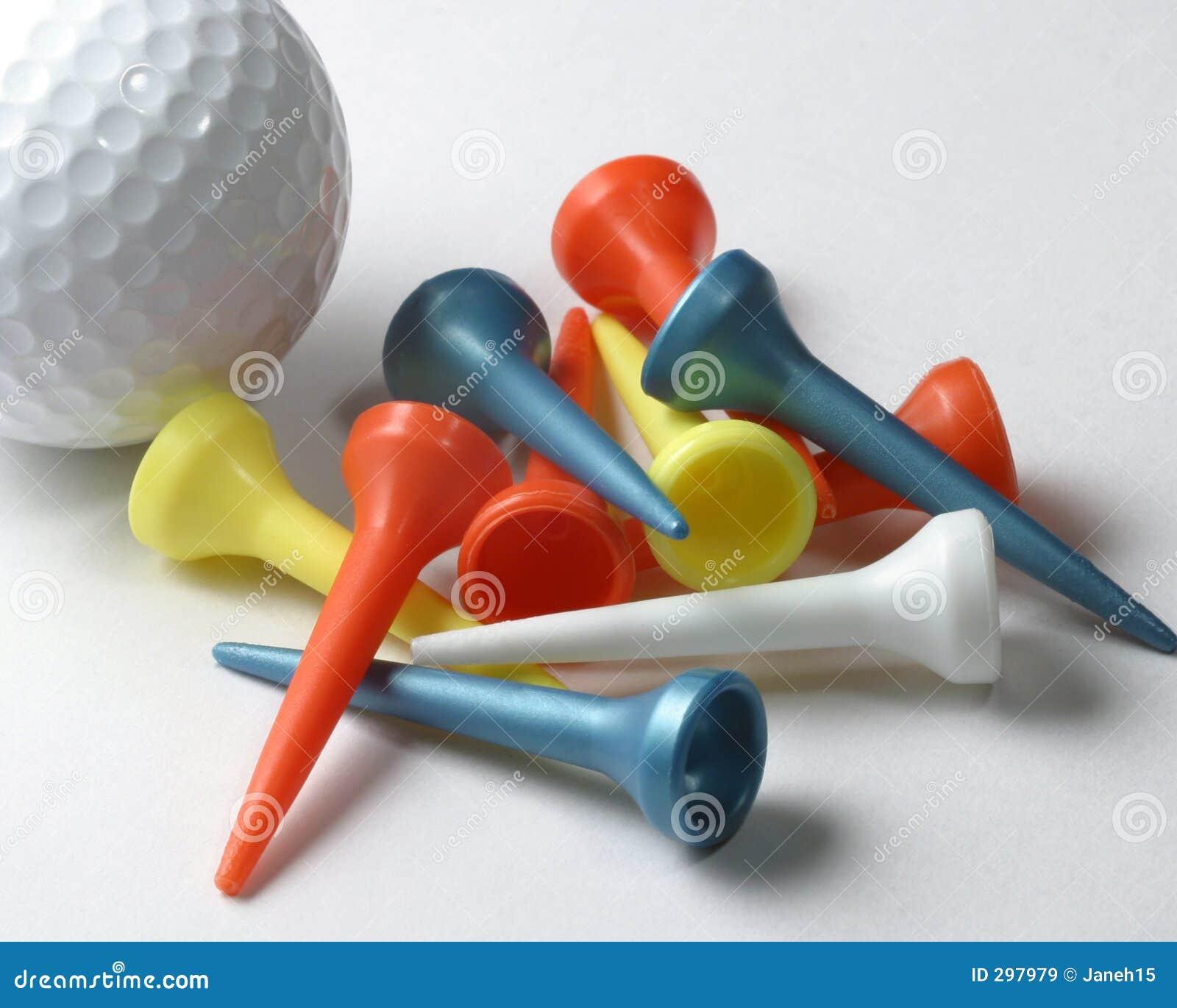 Golfball en T-stukken
