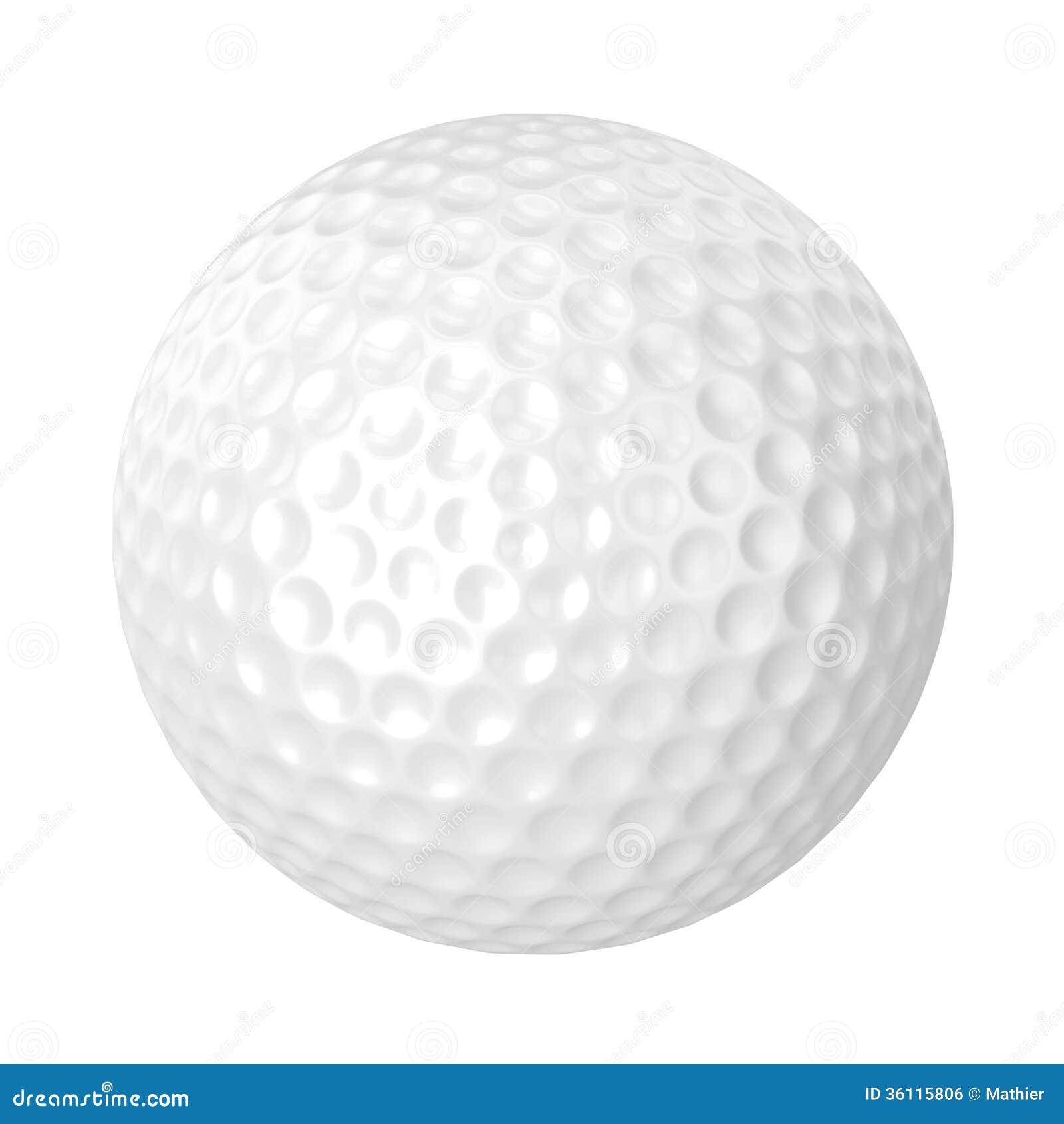 Golfball lokalisiert stockfoto. Illustration von hintergrund - 36115806