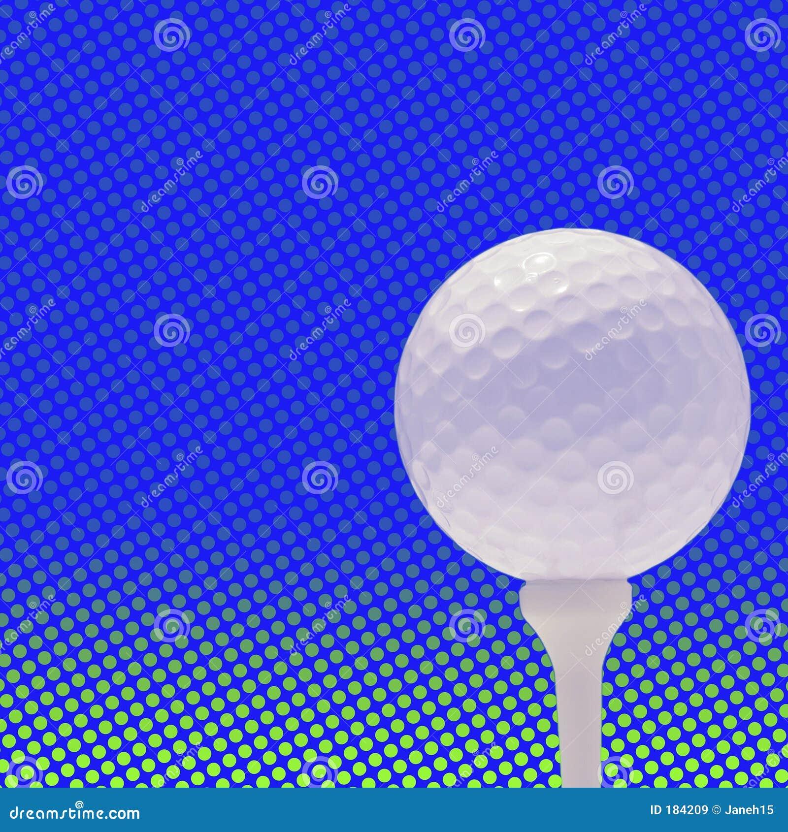 Golfball sulla priorità bassa del punto