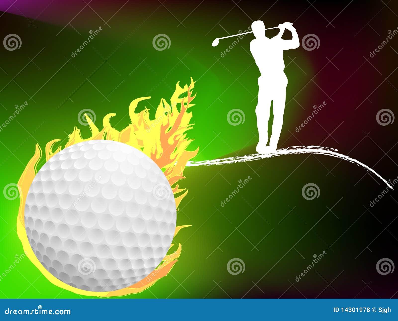 Golfballhintergrund
