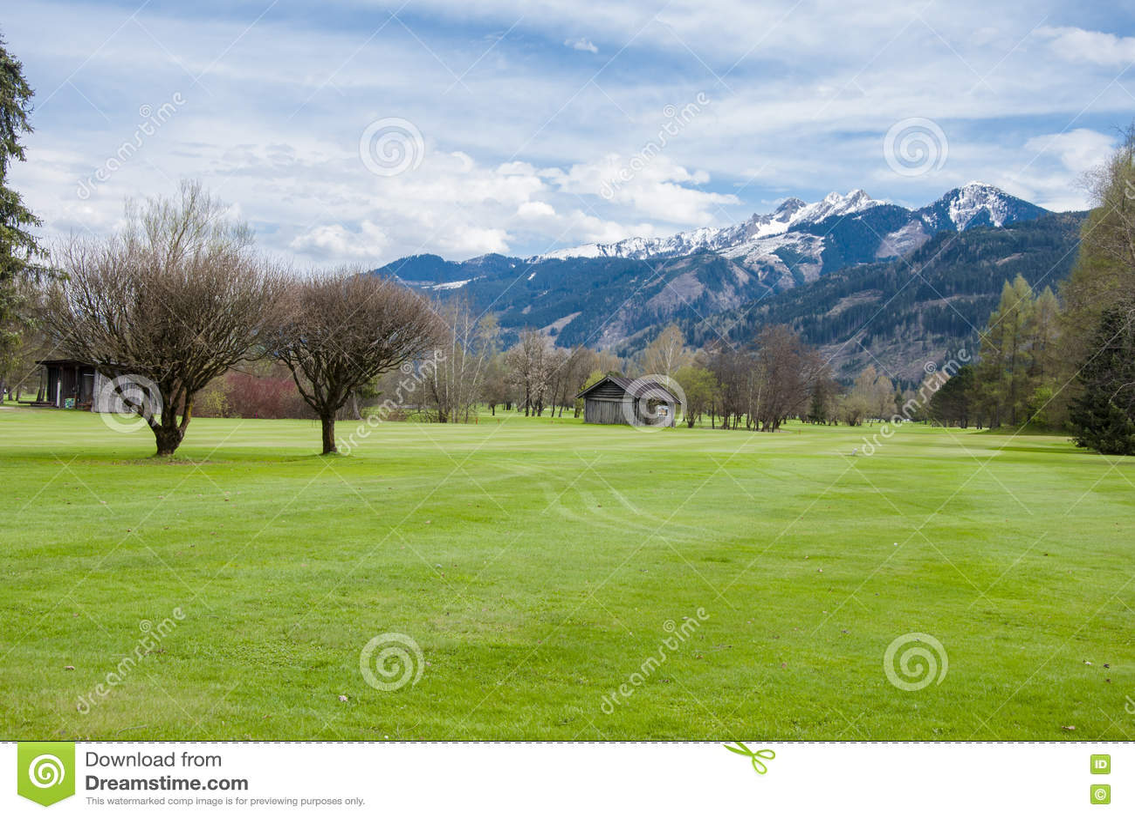 Golfbana i berg