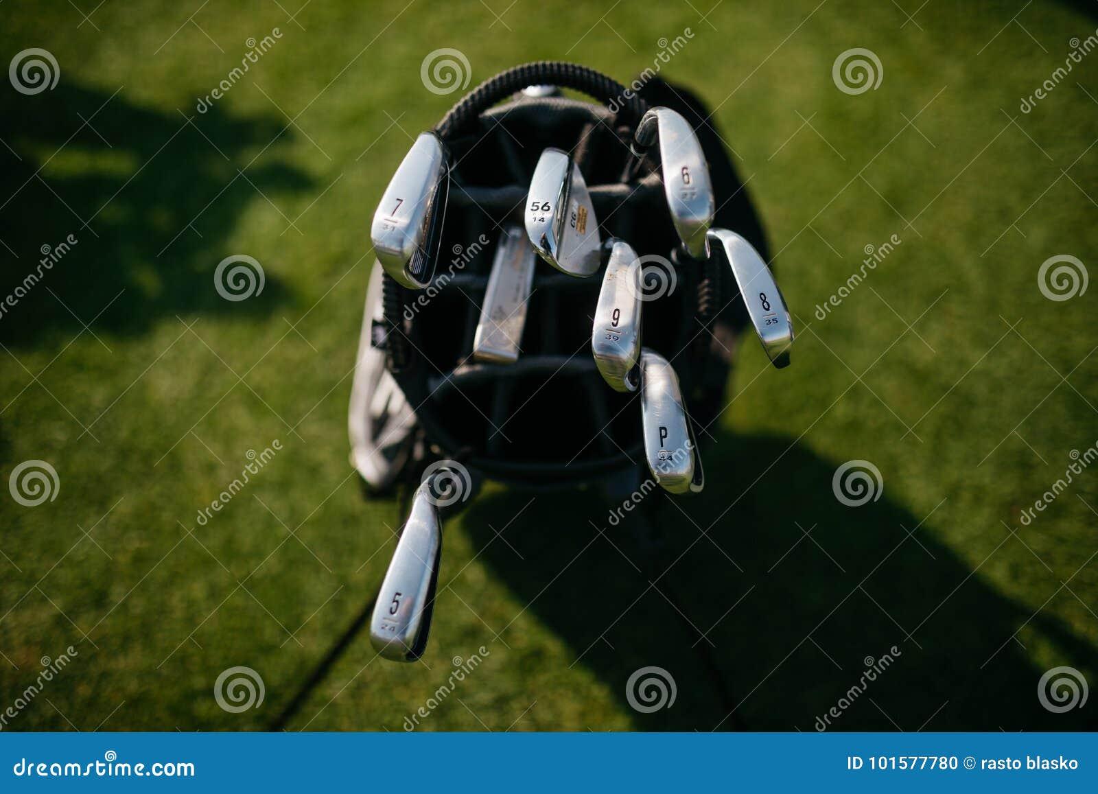 Golfclub in zak