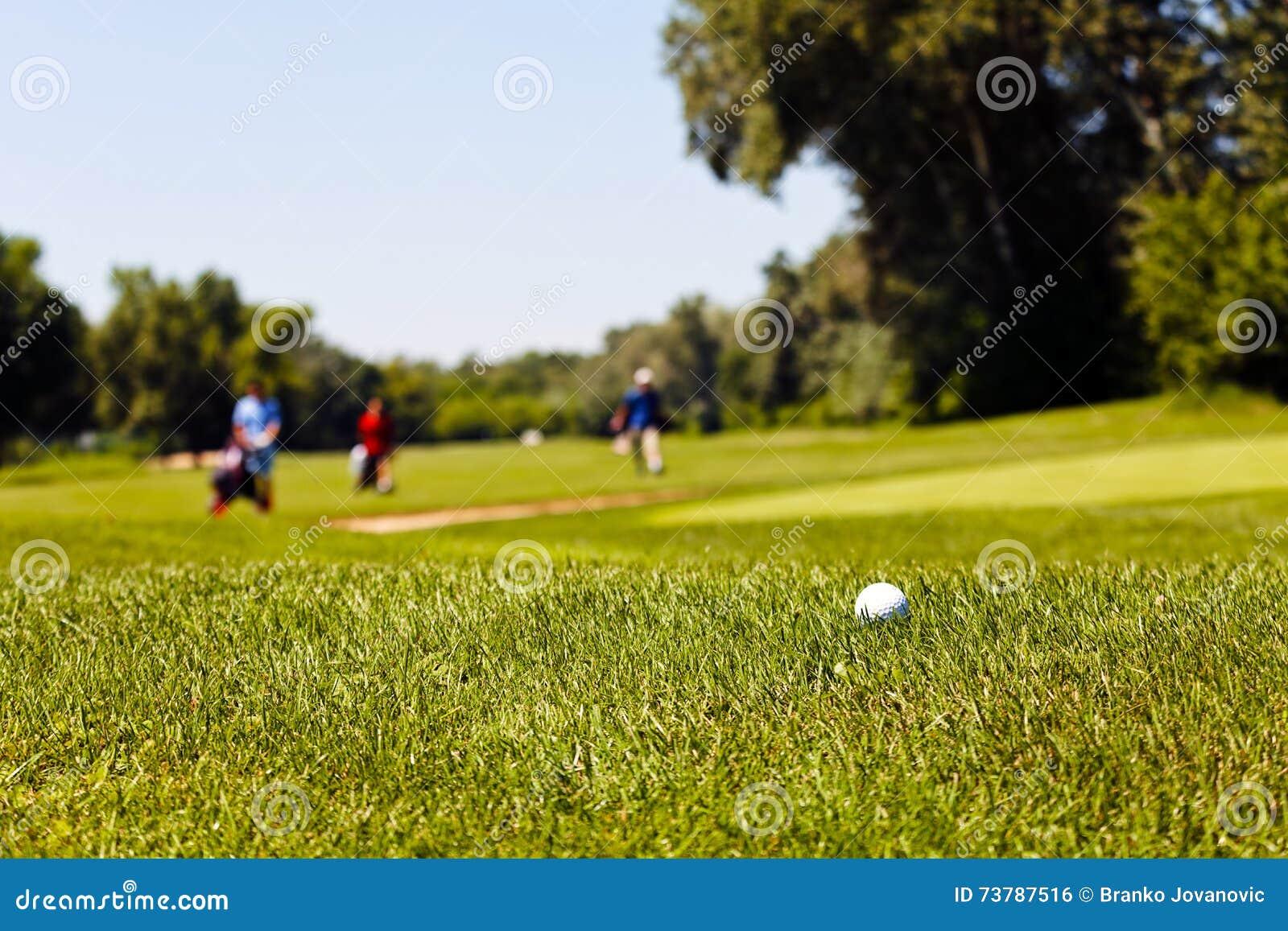 Golfcursus met spelers