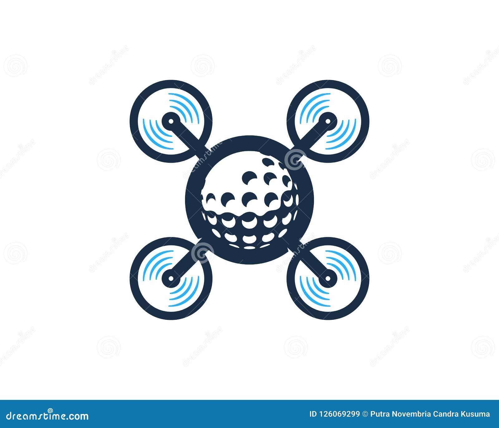 Golfe Logo Icon Design do zangão
