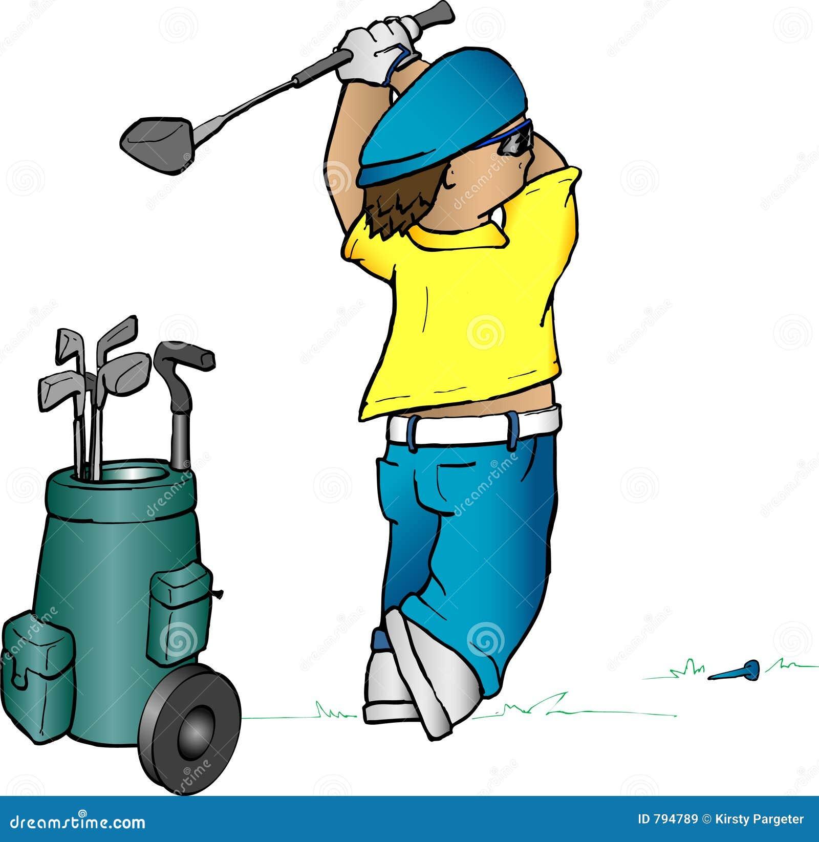 Golfer cartoon stock vector image of illustration