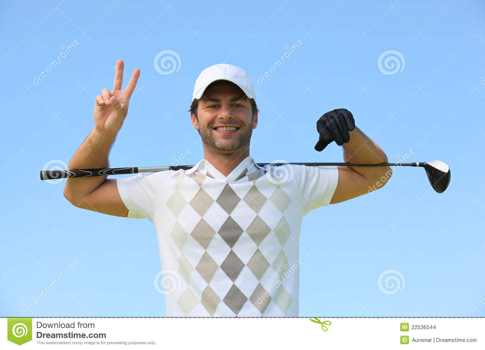 down golf thumb