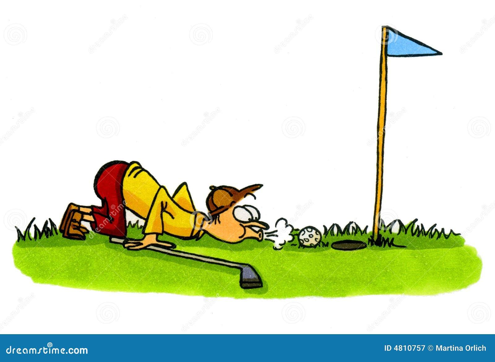Golfer Golf Cartoons Series Number 4 Stock Illustration