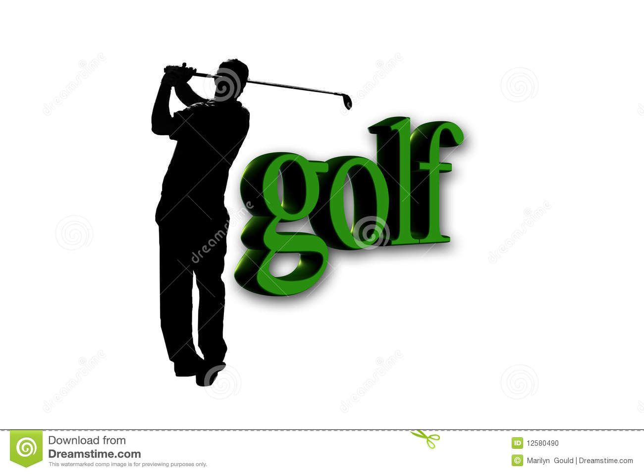 Golfer Golf Text Stock Photo Image Of Activity Club
