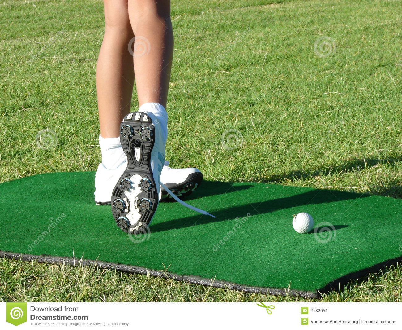 Golfer Legs stock image  Image of evening, outdoors, laces