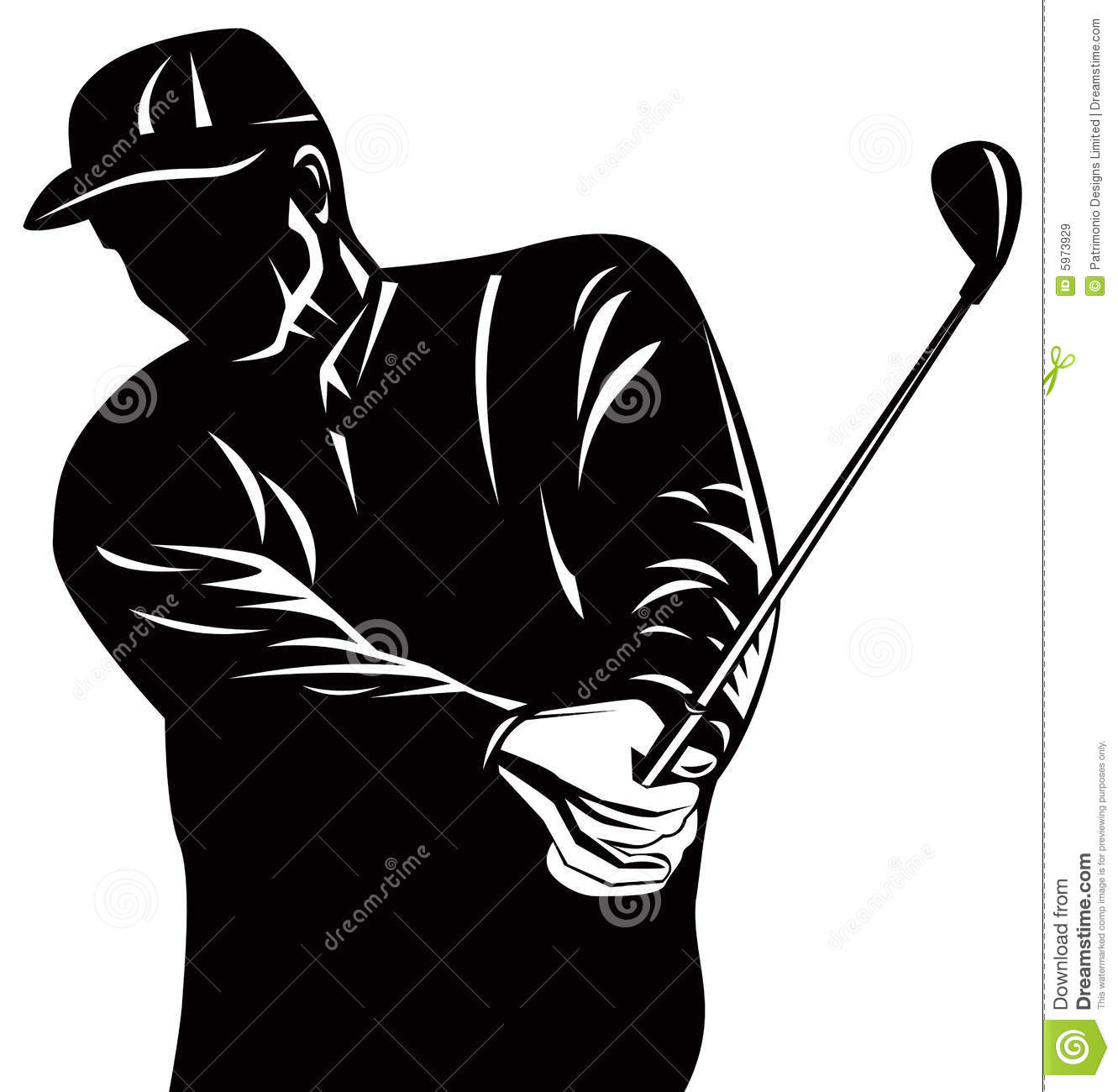 Golf Player Silhouette Stock Vector Illustration Of Competition