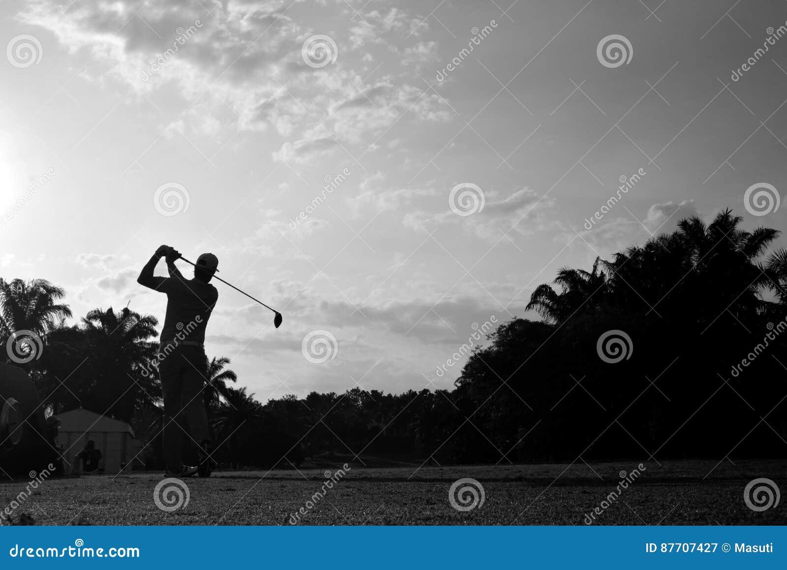 Golfeur noir et blanc