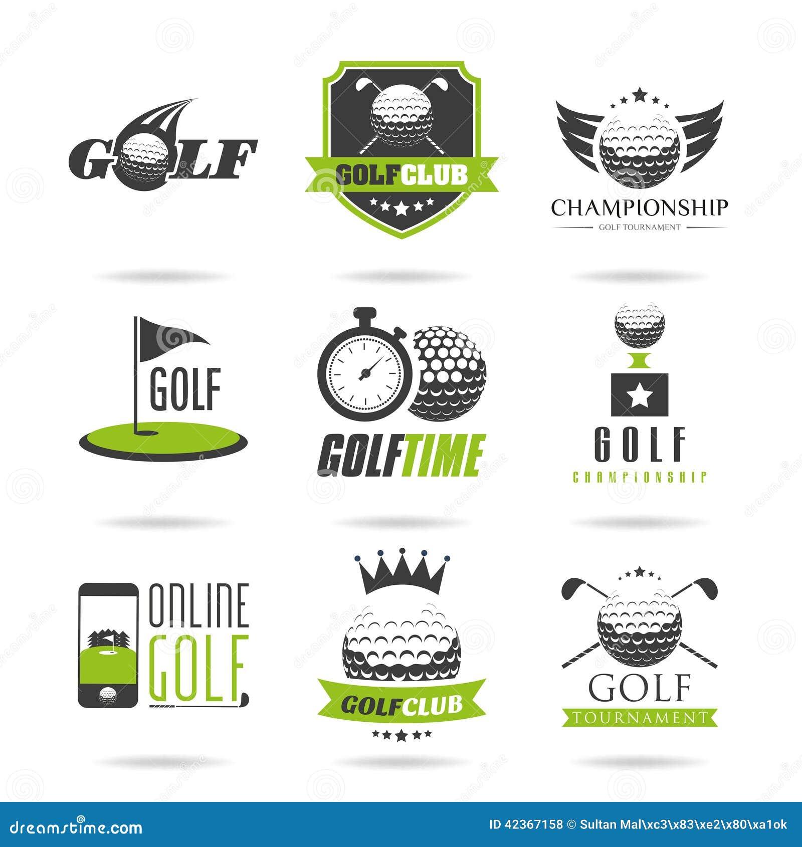 Golfflagga, golfboll och golfpinne