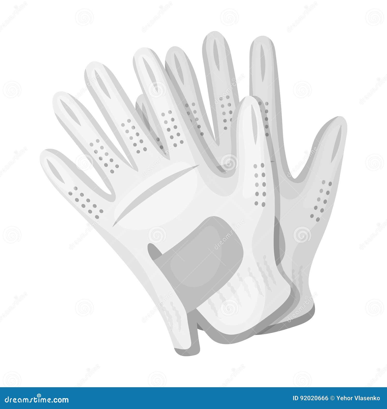Golfhandschoenen Golfclub enig pictogram in het zwart-wit Web van de de voorraadillustratie van het stijl vectorsymbool