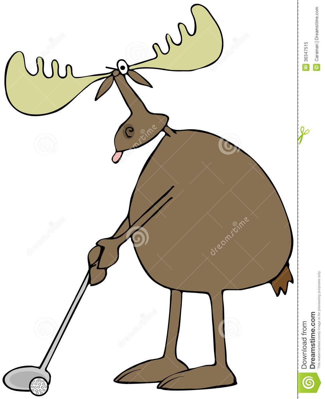Golfing Moose Royalty Free Stock Photo - Image: 36347515 Golf Ball On Tee Clipart