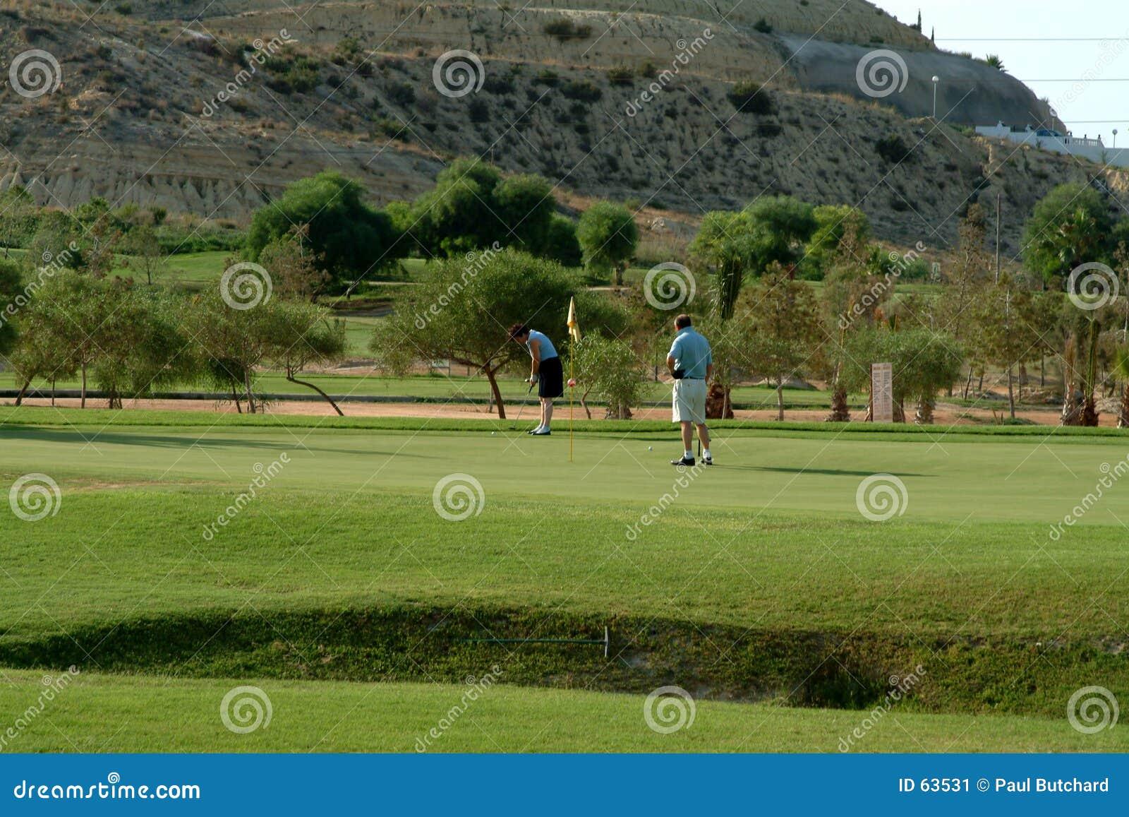 Golfing in Spanje