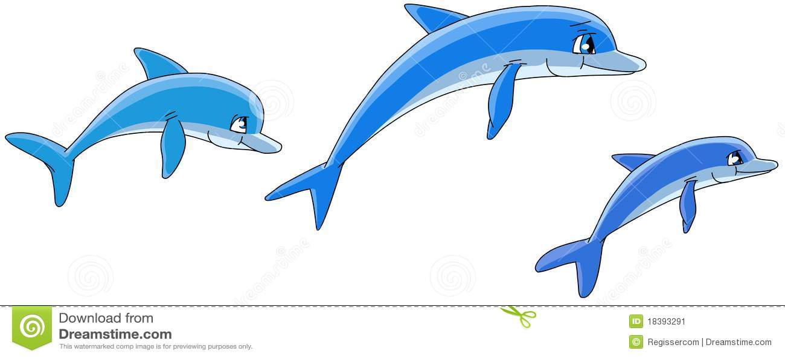 Golfinhos dos desenhos animados.