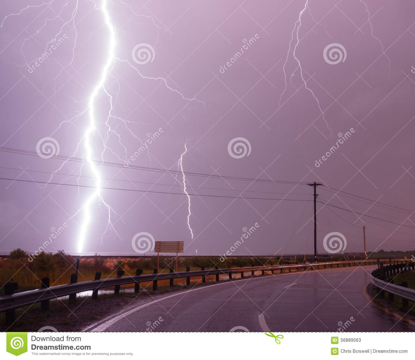 Golfo del Messico enorme dell intercettore della tempesta di colpo di Bolt di fulmine