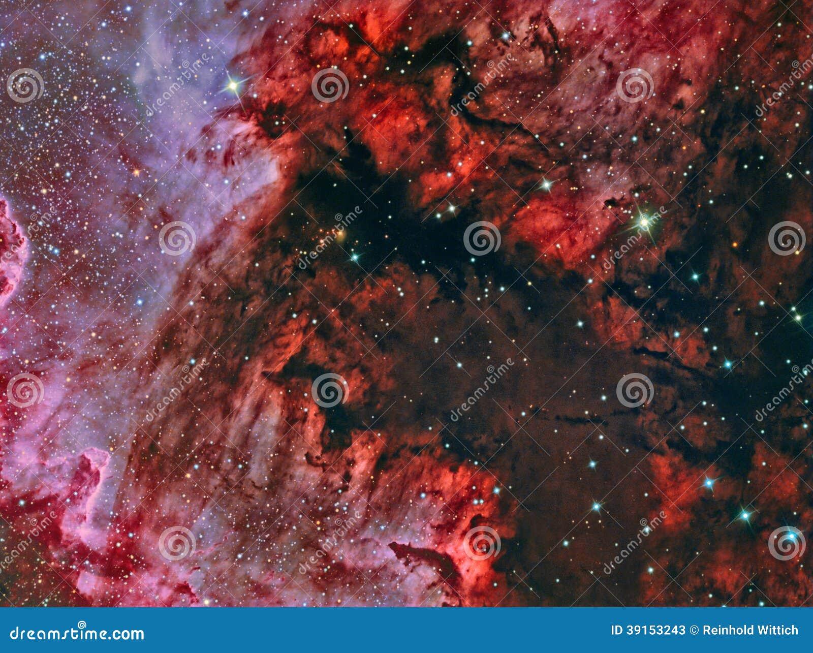 Golfo do México na nebulosa NGC 7000 de America do Norte