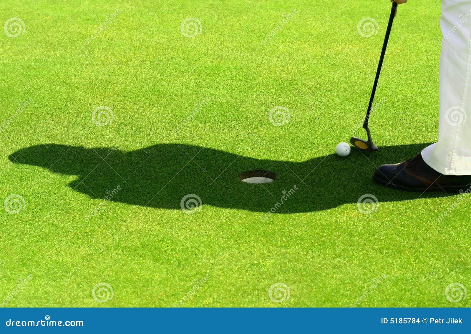 Golfplatssilhouette