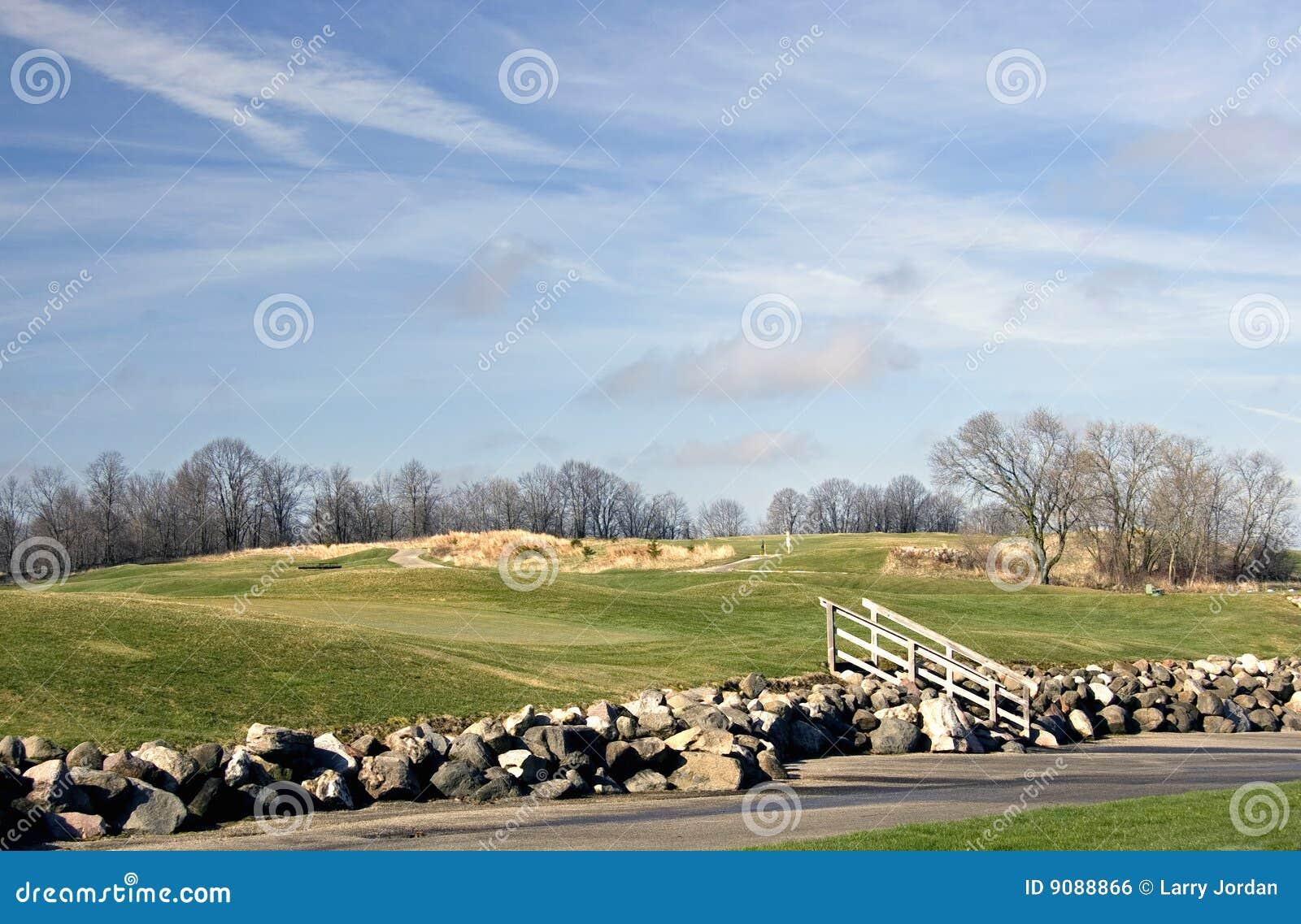 Golfplatz-Felsen-Stützmauer