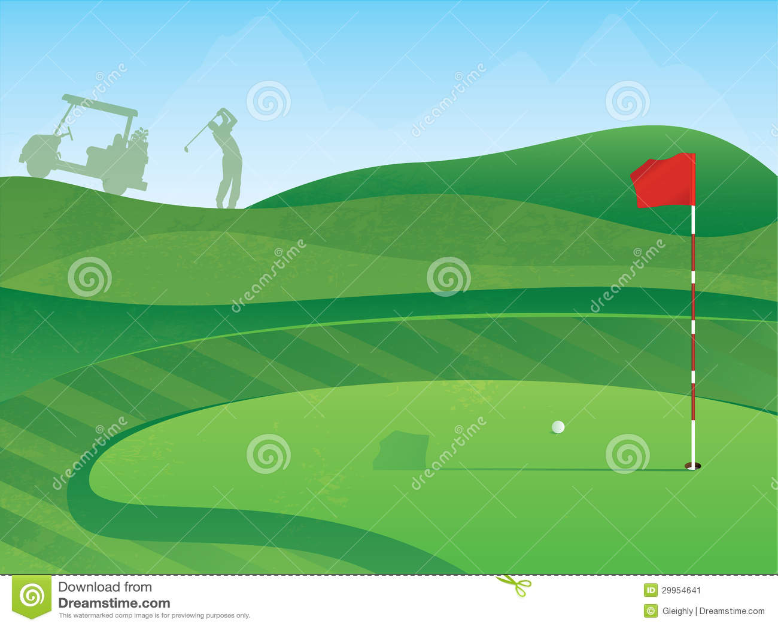 Golf-Grün