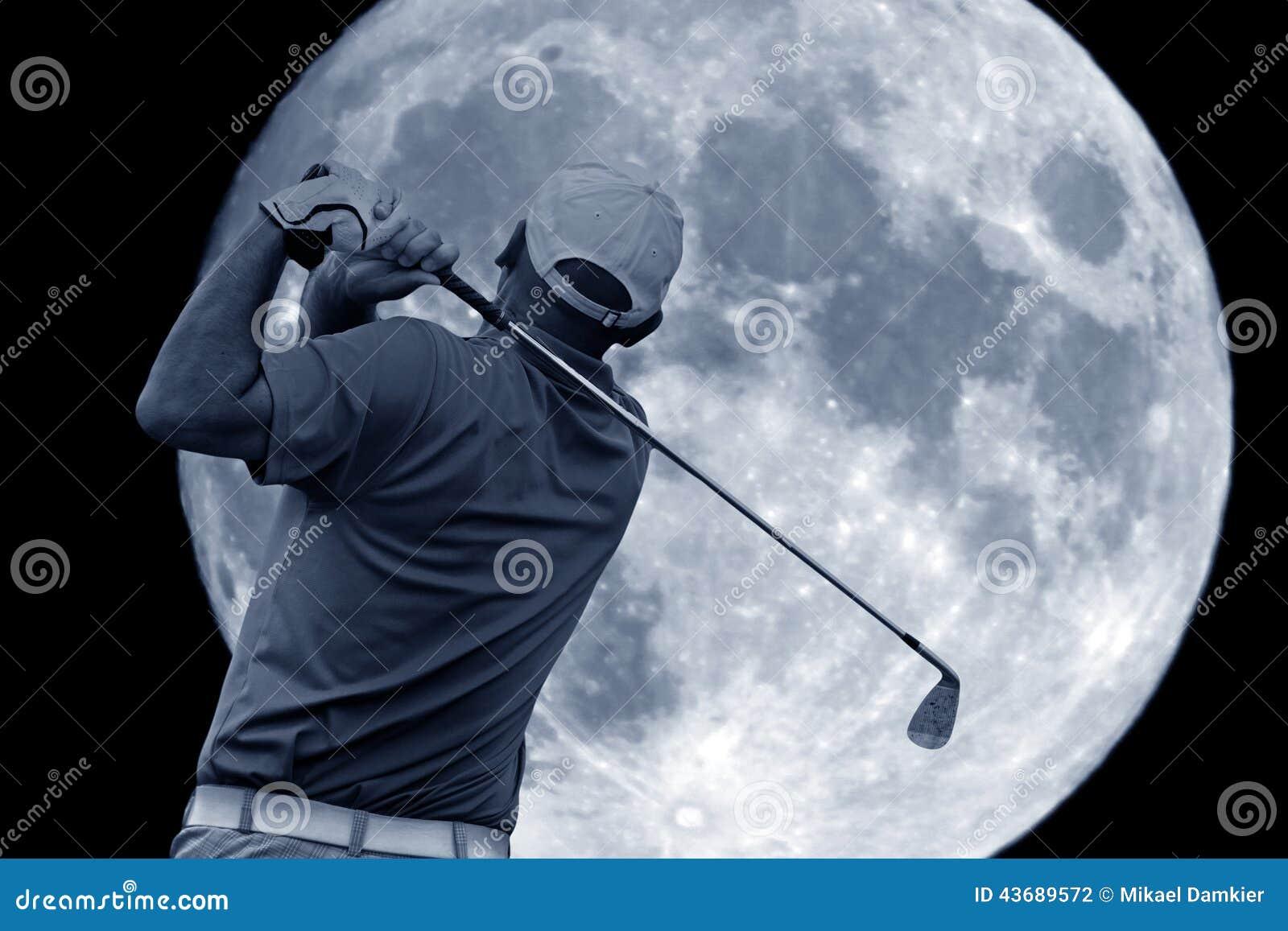 Golfschommeling en een grote maan