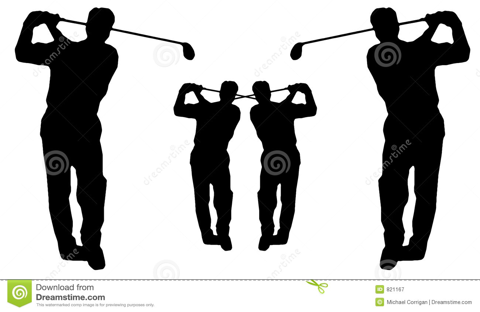 Golfsilhouetteswing