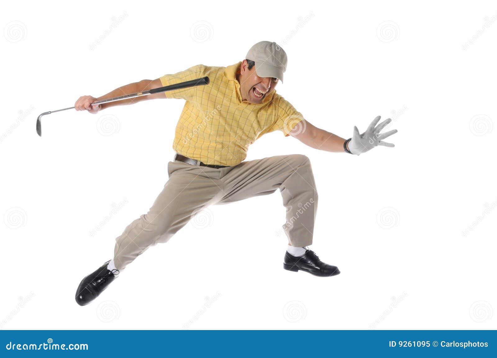 Golfspeler jumpinp