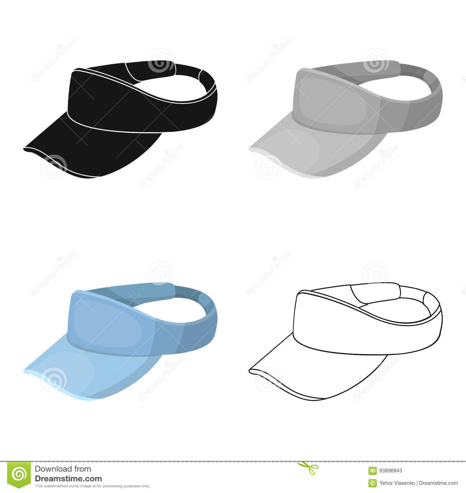 Golfspeler` s hoofddeksel Golfclub enig pictogram in van de het symboolvoorraad van de beeldverhaalstijl vector de illustratieweb