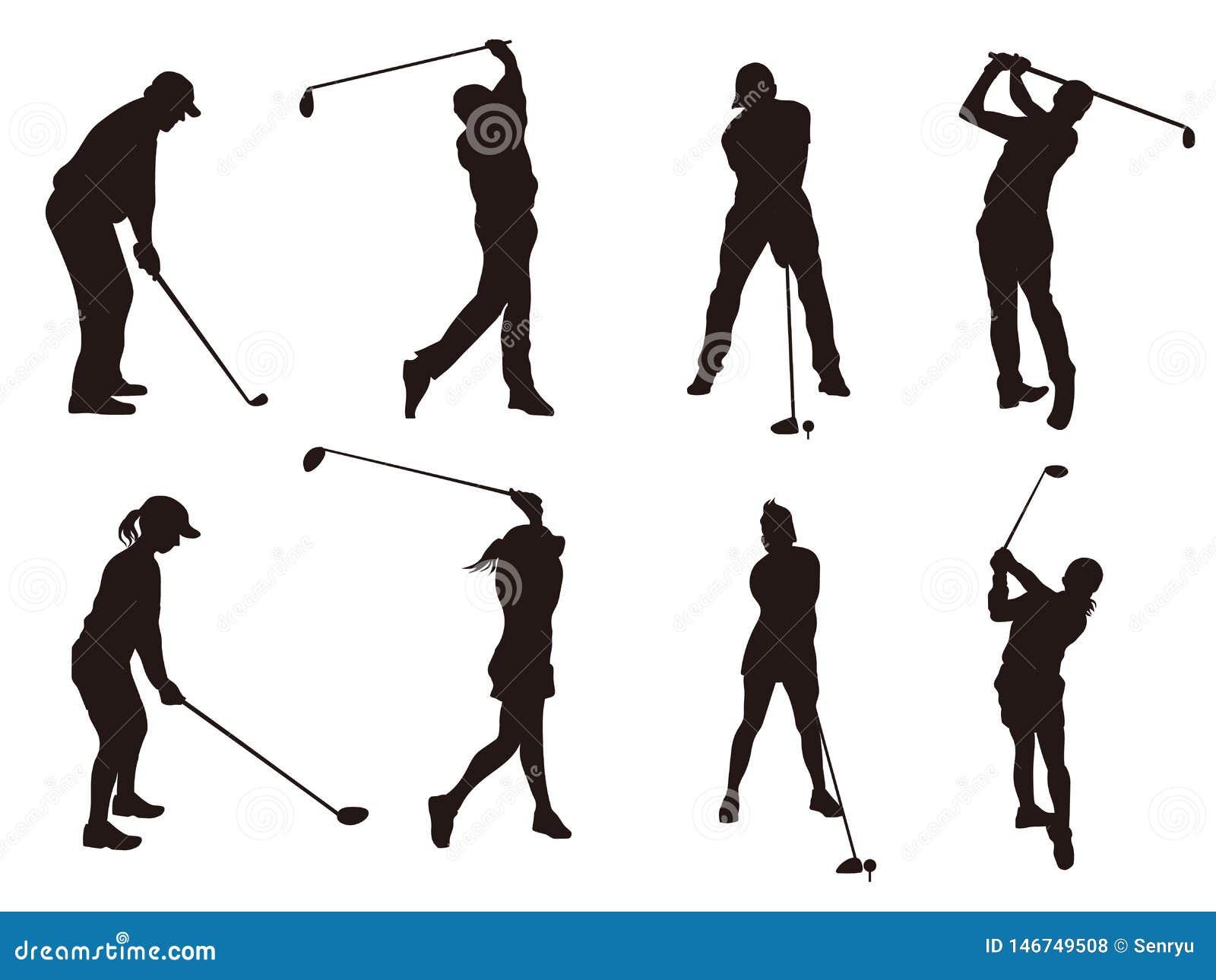 Golfspeler silhouette1