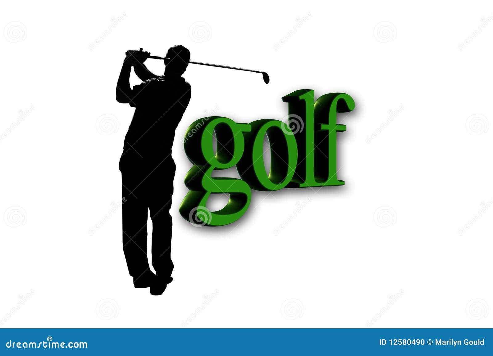 Golfspieler - Golftext