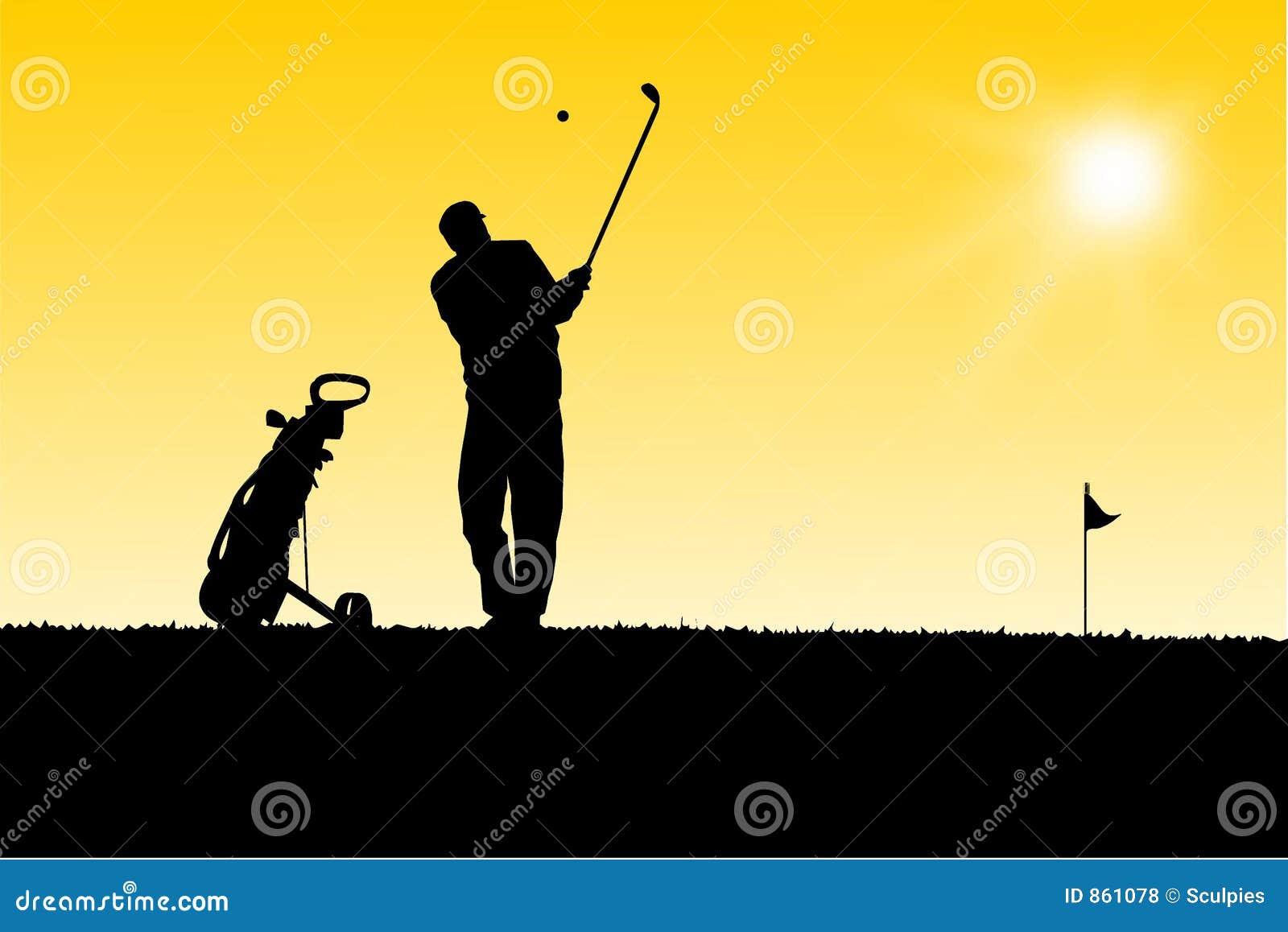 Golftrolley παικτών γκολφ κίτρινο