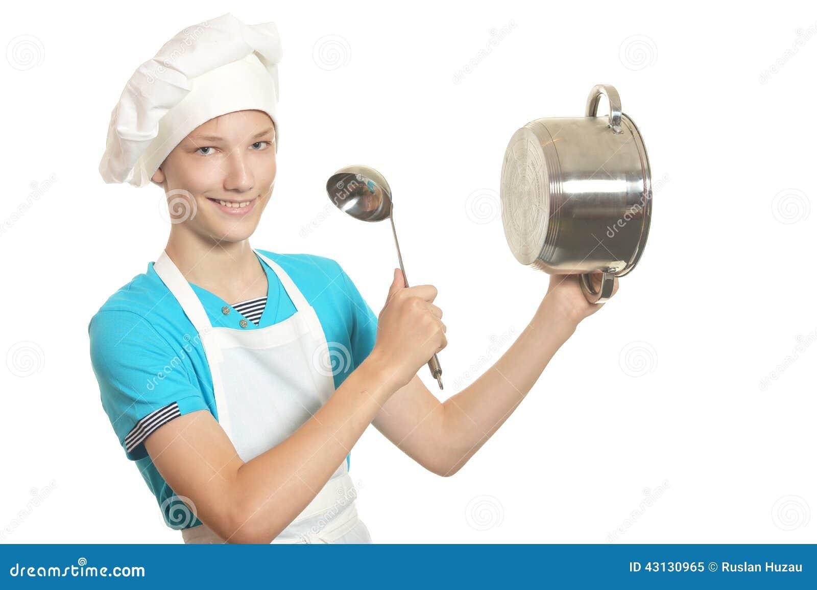 Golpes del muchacho de la cocina foto de archivo imagen - La cocina dela abuela ...