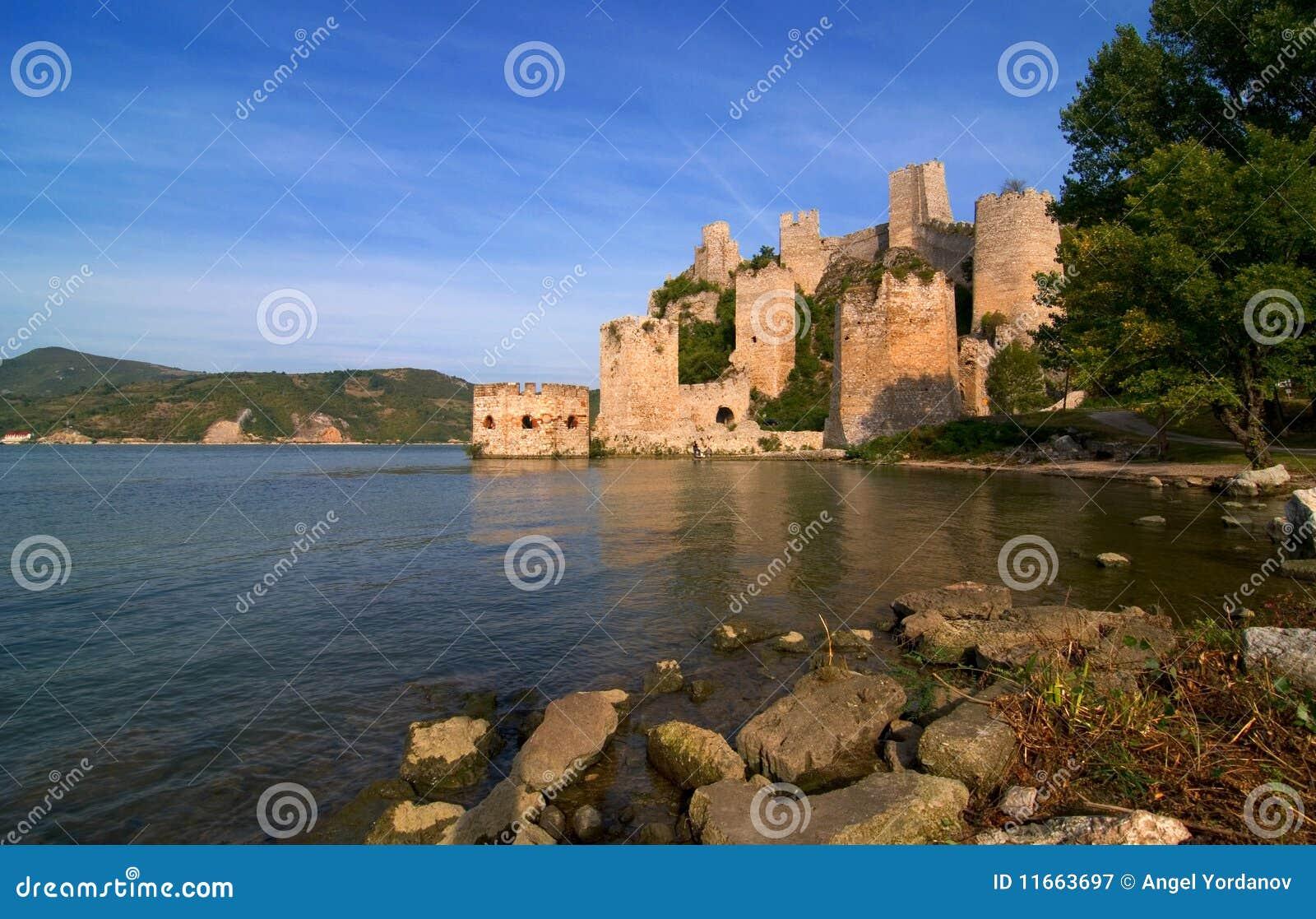 Golubac castle on Danube river in Serbia