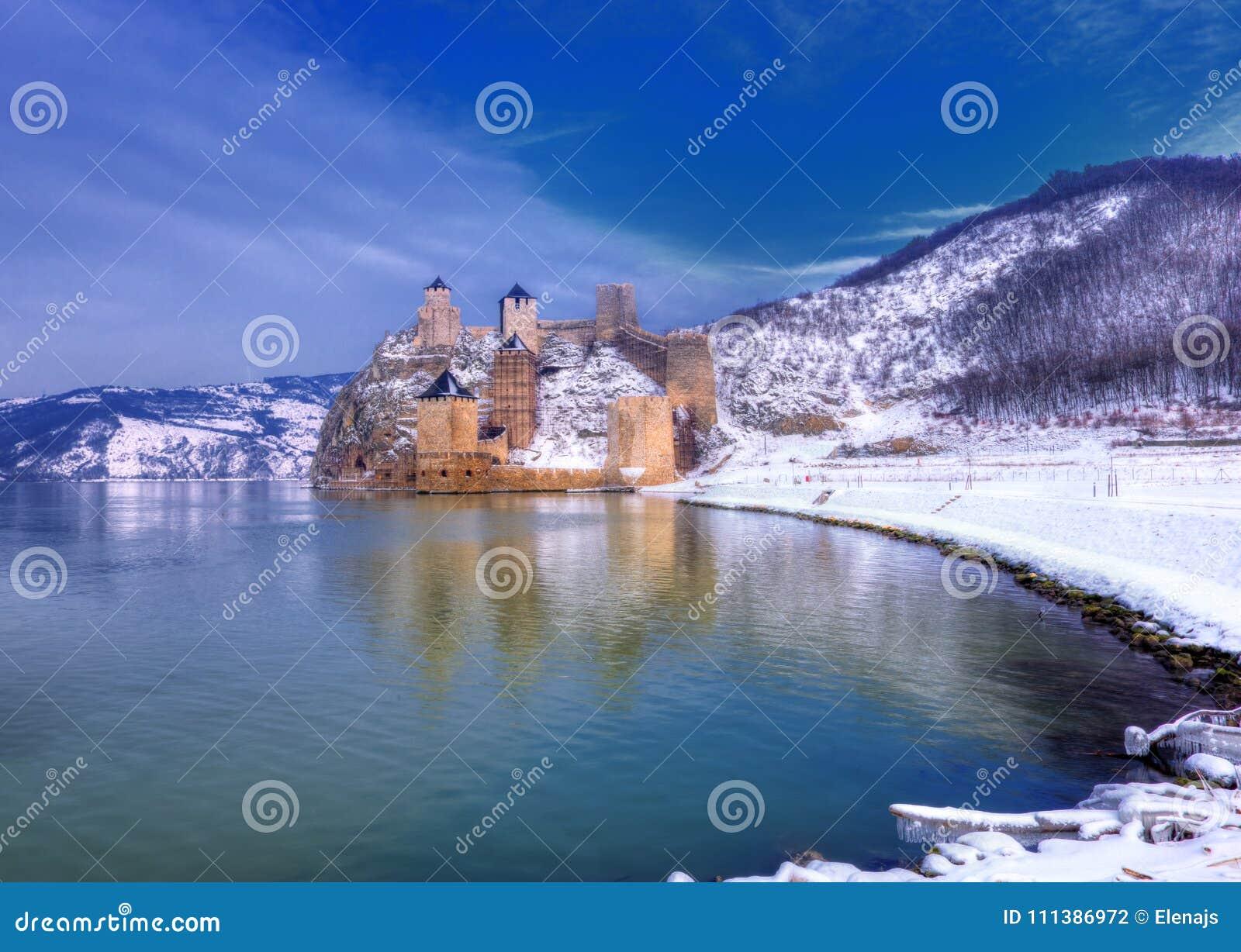 Golubac-Festung auf der Donau, Serbien