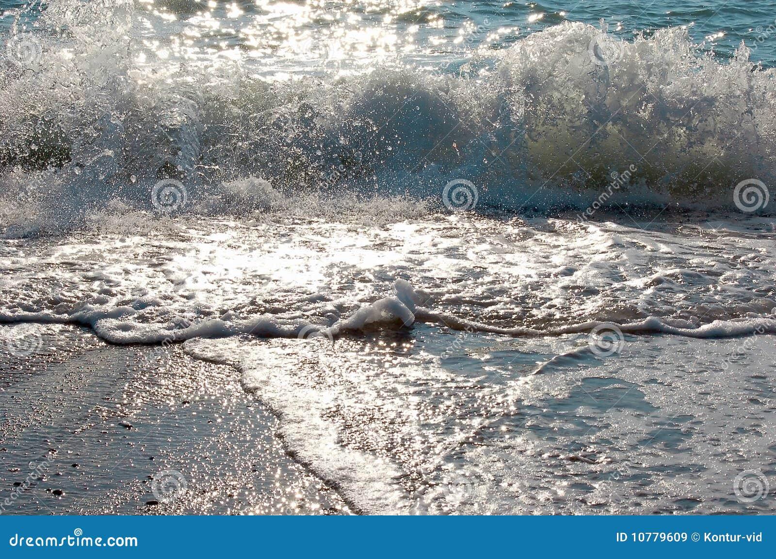 Golven op overzees