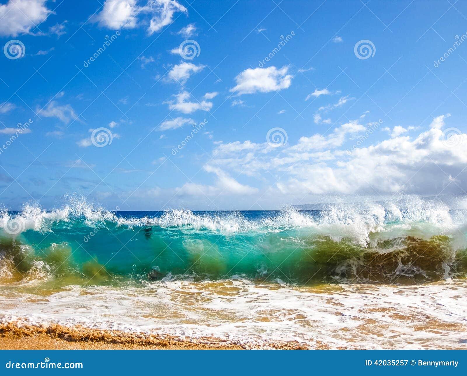 Golven van de oceaan, Maui, Hawaï