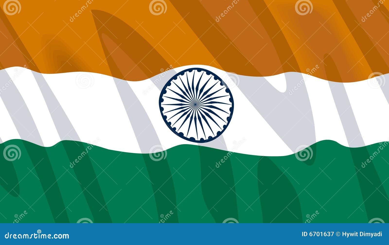 Golvende vlag van India
