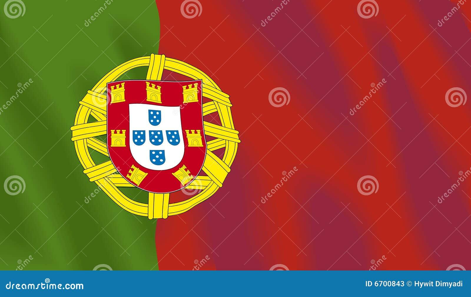 Golvende vlag van Portugal