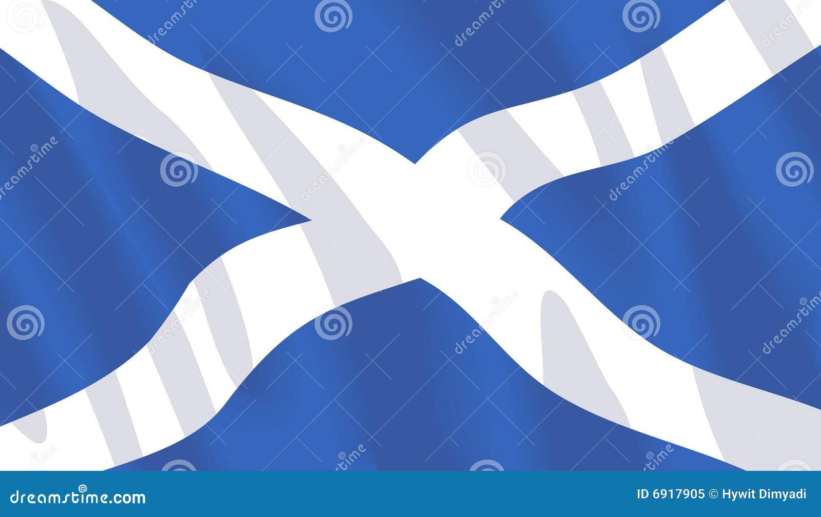 Golvende vlag van Schotland