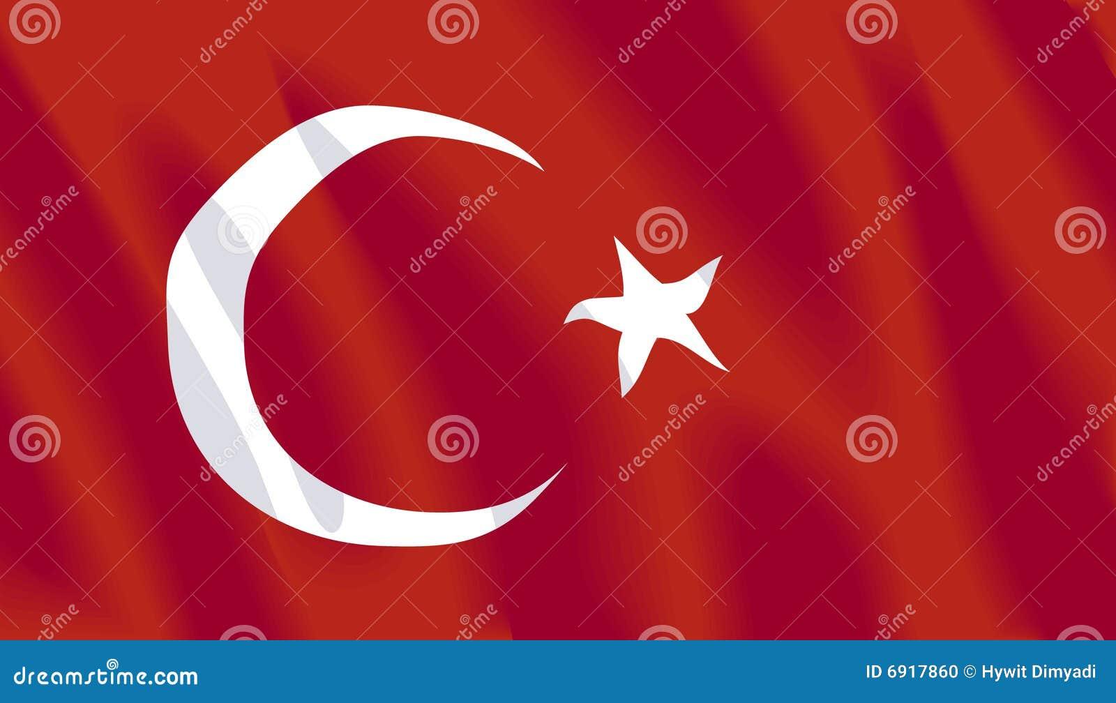 Golvende vlag van Turkije