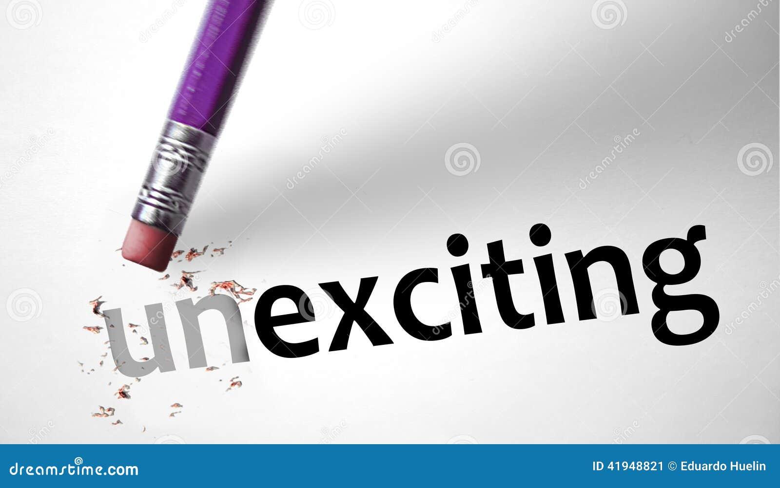 Gom die het woord Unexciting voor het Opwekken ruilen