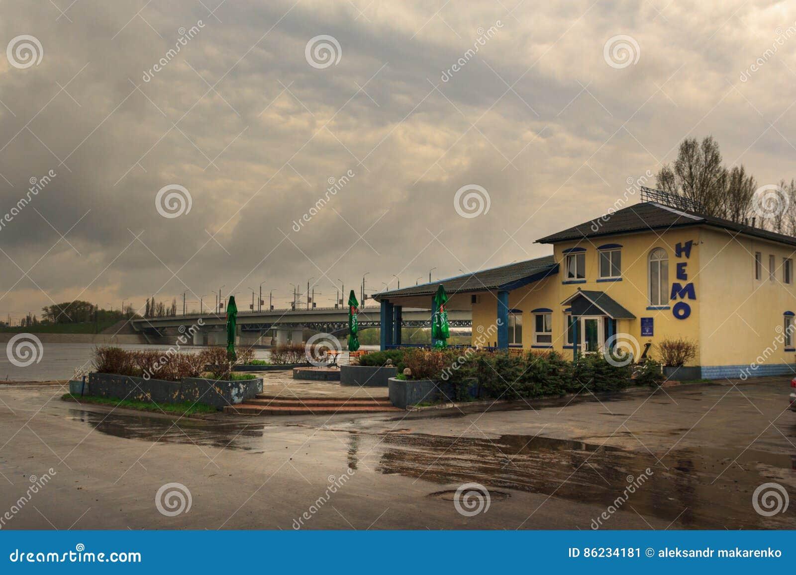 Gomel Białoruś, MAJ, - 1, 2013: KAWIARNIA PRĘTOWY NEMO Rozrywki centrum
