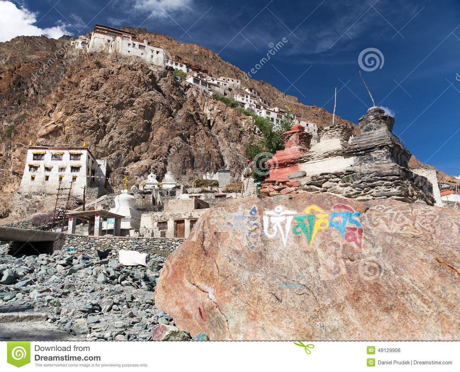 Gompa de Karsha - monasterio budista en el valle de Zanskar