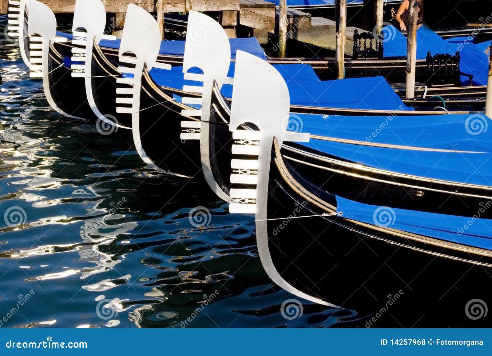 Gondola boats in venice stock photo. Image of color, harbor - 14257968