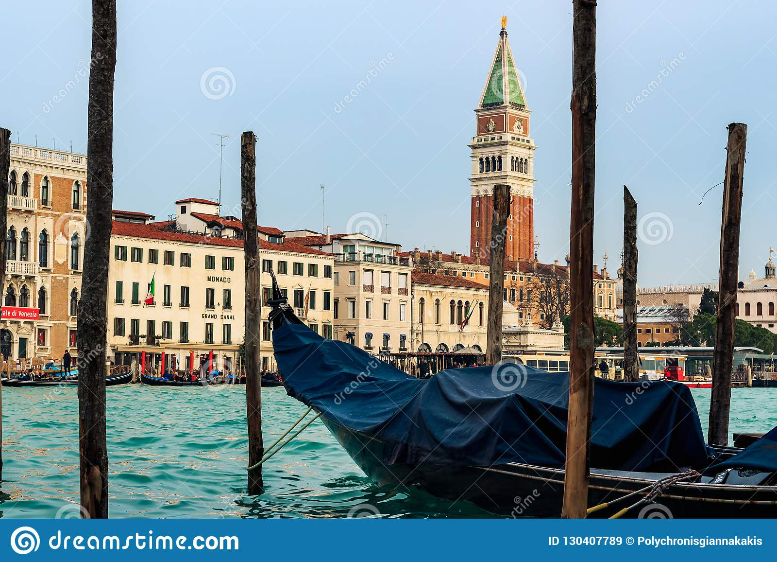 Gondola i San Marco katedra W Wenecja
