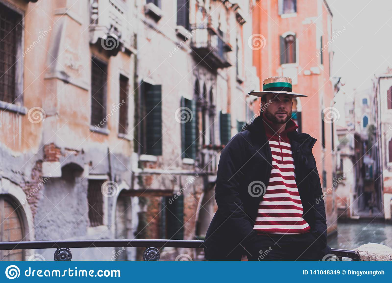 Gondola man in venice