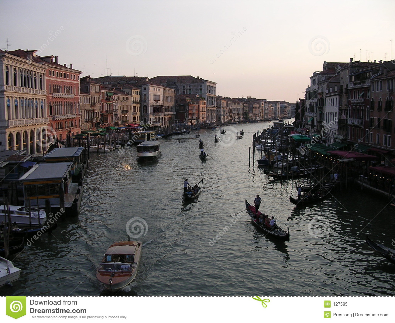 Gondolas on the Grand Canal.